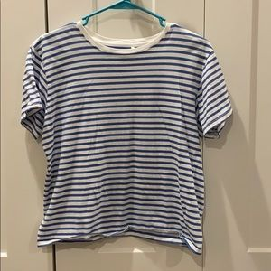 Women's striped blue and white t-shirt